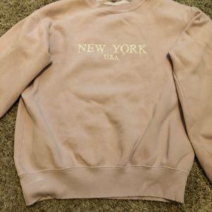 light pink nyc sweatshirt!